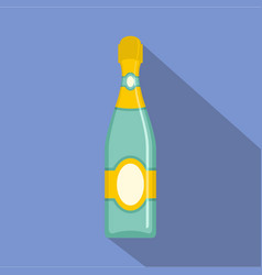 Dry champagne icon flat style vector