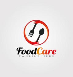 Food care logo designrestaurant icon vector