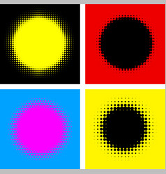 Four abstract colorful dotted backgrounds vector