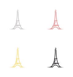 france paris eiffel tower logo design vector image