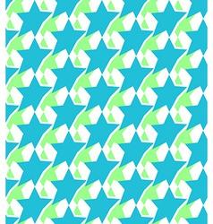 Geometric seamless pattern background of stars vector image