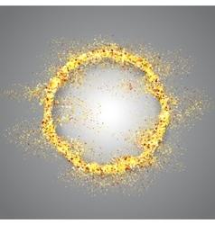 Golden frame on gray background vector image