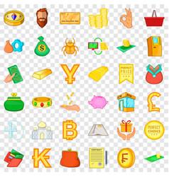 good choice icons set cartoon style vector image