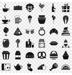 Great bounty icons set simple style vector