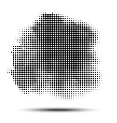 Halftone circle pattern grunge spot dots vector