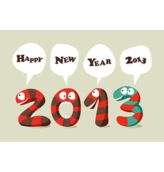 Happy New Year cartoon card vector image