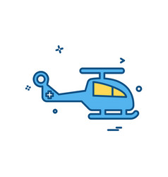 Helicopter icon design vector