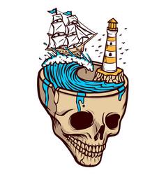 Horror sea adventure vector