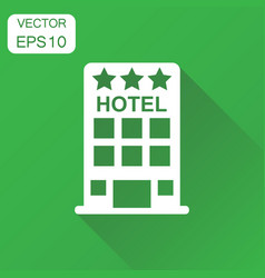 Hotel icon business concept hotel pictogram on vector