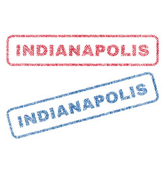 Indianapolis textile stamps vector