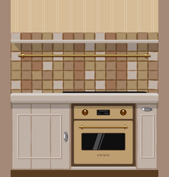 kitchen element with oven vector image