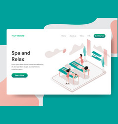 landing page template relax and spa room vector image