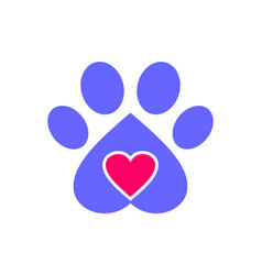 love dog pets logo icon vector image