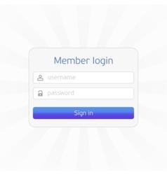 Member login form vector