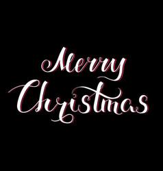 Merry christmas lettering white vector
