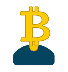 miner bitcoin is businessman guy cryptocurrency vector image