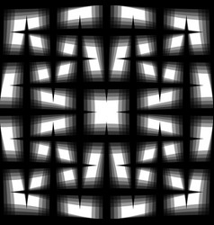 Monochrome seamless pattern of interlaced fading vector
