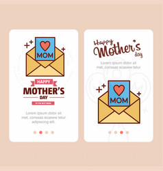 Mothers day card with message logo and pink theme vector
