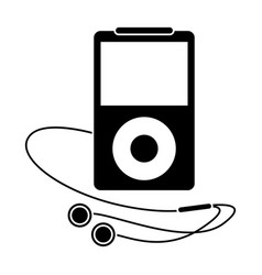 Mp3 player headphones pictogram vector