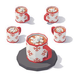 Mug of hot chocolate vector