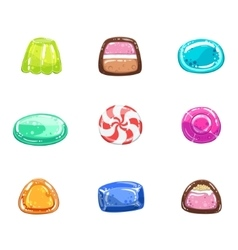 Multi-coloured Sweets Set vector