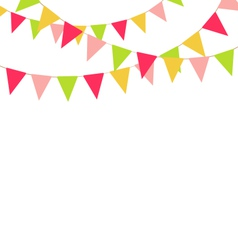 Multicolored bright buntings garlands isolated on vector
