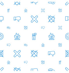 No icons pattern seamless white background vector