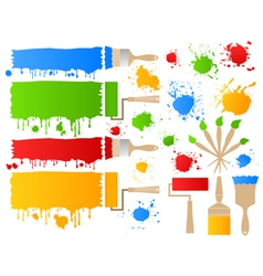 painting brushes vector image