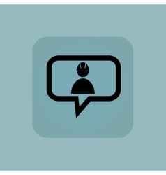 Pale blue builder message icon vector