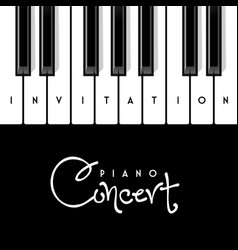 piano concert invitation design template vector image