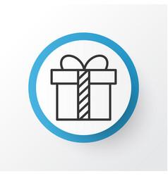 present icon symbol premium quality isolated gift vector image