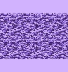 Purple military digital camouflage horizontal vector