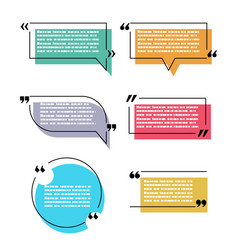 Quote speech bubble text box isolated design vector