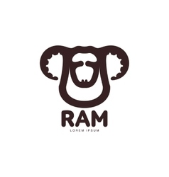 Ram sheep lamb head graphic logo template vector image