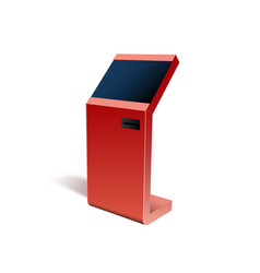 realistic 3d payment terminal atm pos mock up vector image