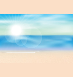 sea view summer season background vector image