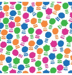 seamless background with lots of flowers vector image vector image