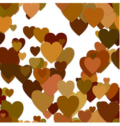 Seamless heart background pattern vector