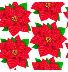seamless pattern poinsettia vector image