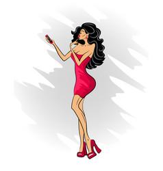 selfiewoman4 vector image vector image