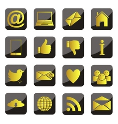 set social network icons vector image