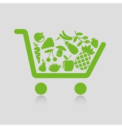 Shopping cart concepts vector