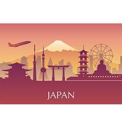 Silhouette of Tokyo city in JapanJapan landmarks vector