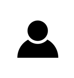 single person user simple black icon on white vector image