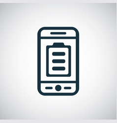 smartphone battery icon for web and ui vector image