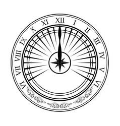 sundial white silhouette vector image