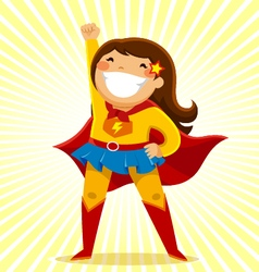 Super girl vector