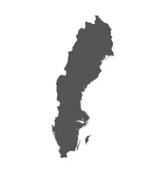 Sweden map black icon on white background vector