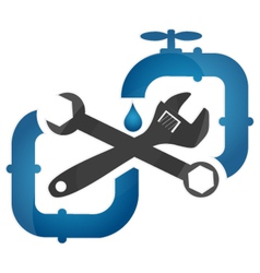 Symbol plumbing and repair vector