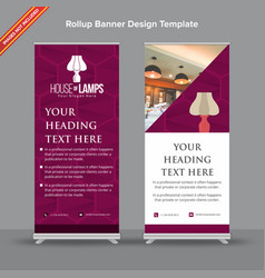 Textural rollup banner in plum tone vector